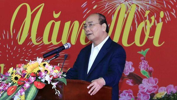 Thủ tướng Nguyễn Xuân Phúc phát biểu tại buổi gặp mặt - Sputnik Việt Nam