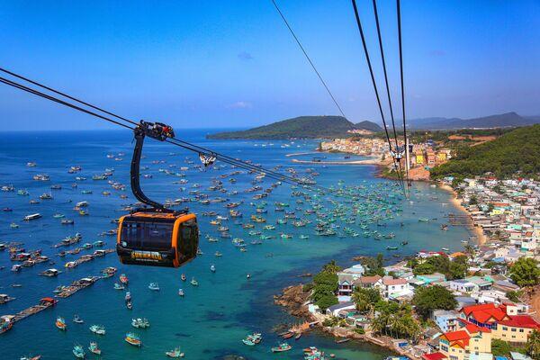 Cáp treo dài nhất thế giới trên đảo Phú Quốc, Việt Nam - Sputnik Việt Nam
