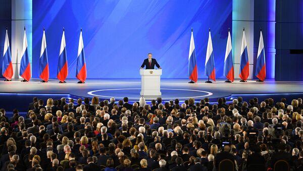 Thông điệp của Vladimir Putin gửi Hội đồng Liên bang. - Sputnik Việt Nam