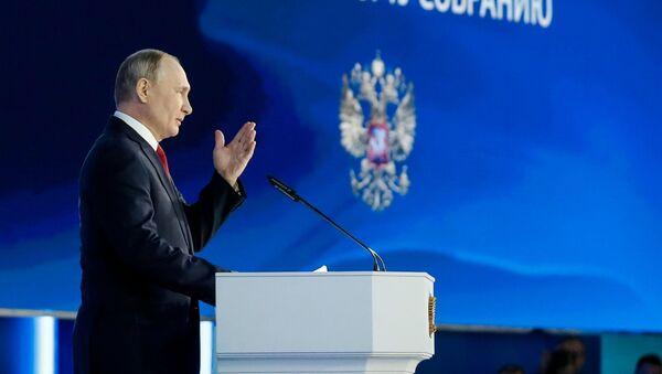 Vladimir Putin nói trong Thông điệp gửi Quốc hội Liên bang. - Sputnik Việt Nam