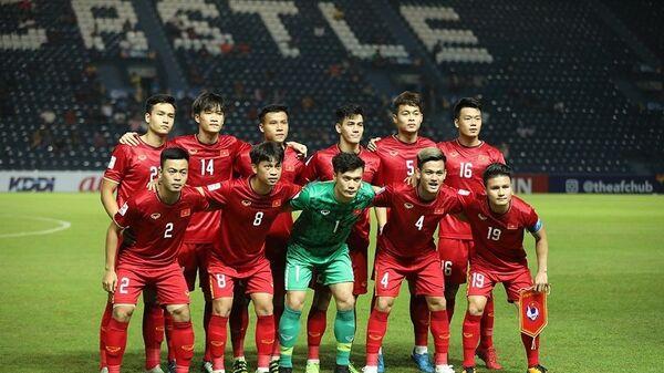 Đội hình ra sân của U23 Việt Nam. - Sputnik Việt Nam