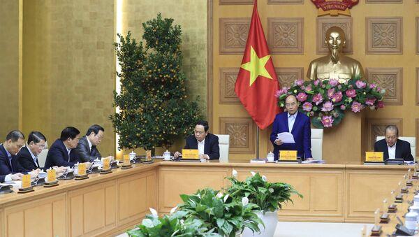 Thủ tướng Nguyễn Xuân Phúc, Trưởng Tiểu ban Kinh tế - Xã hội phát biểu.  - Sputnik Việt Nam