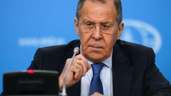 Quyền Bộ trưởng Bộ Ngoại giao Liên bang Nga Sergey Lavrov tuyên bố trong cuộc họp báo về kết quả của các hoạt động ngoại giao Nga trong năm 2019. - Sputnik Việt Nam