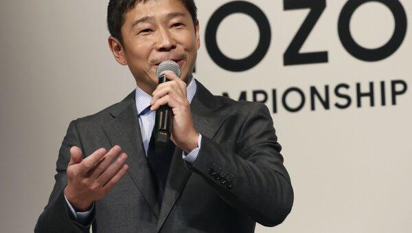 Tỷ phú Nhật Bản Yusaku Maezawa. - Sputnik Việt Nam