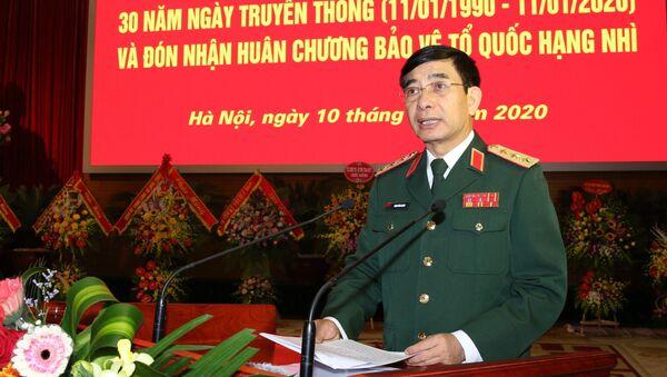 Thượng tướng Phan Văn Giang, Tổng Tham mưu trưởng Quân đội nhân dân Việt Nam, Thứ trưởng Bộ Quốc phòng phát biểu chào mừng - Sputnik Việt Nam
