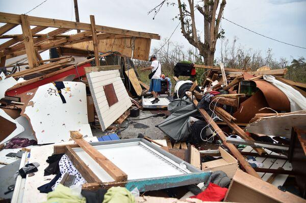 Ngôi nhà bị bão Maria tàn phá ở Puerto Rico, năm 2017 - Sputnik Việt Nam
