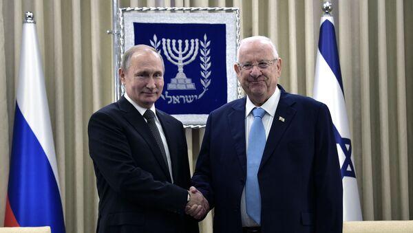 Tổng thống Nga Vladimir Putin và Tổng thống Israel Reuven Rivlin - Sputnik Việt Nam