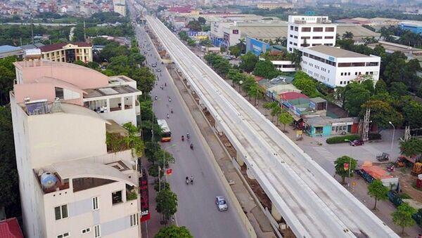 Dự án đường sắt đô thị Nhổn - Ga Hà Nội dài 12,5 km đang bị chậm tiến độ. - Sputnik Việt Nam