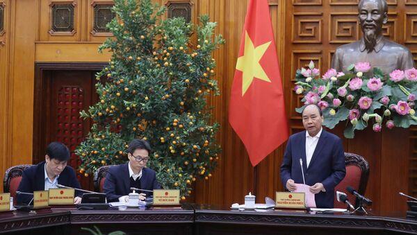 Thủ tướng Nguyễn Xuân Phúc chủ trì cuộc họp. - Sputnik Việt Nam