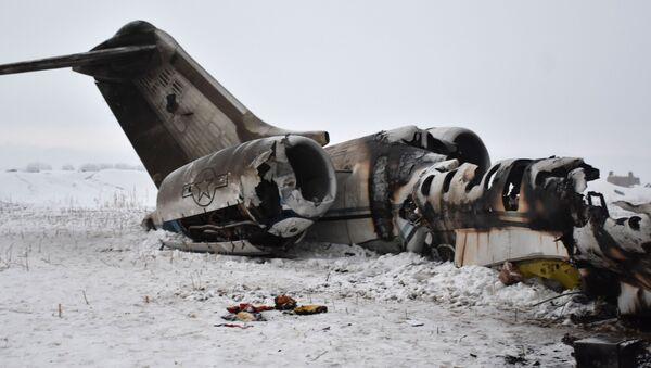 Đống đổ nát của một chiếc máy bay quân sự Mỹ bị rơi ở tỉnh Ghazni, Afghanistan. Ngày 27 tháng 1 năm 2020 - Sputnik Việt Nam
