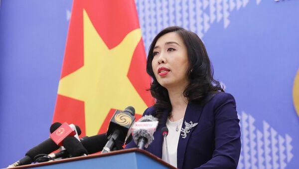 Người phát ngôn Bộ Ngoại giao Lê Thị Thu Hằng thông báo một số hoạt động đối ngoại của Việt Nam trong thời gian tới. - Sputnik Việt Nam