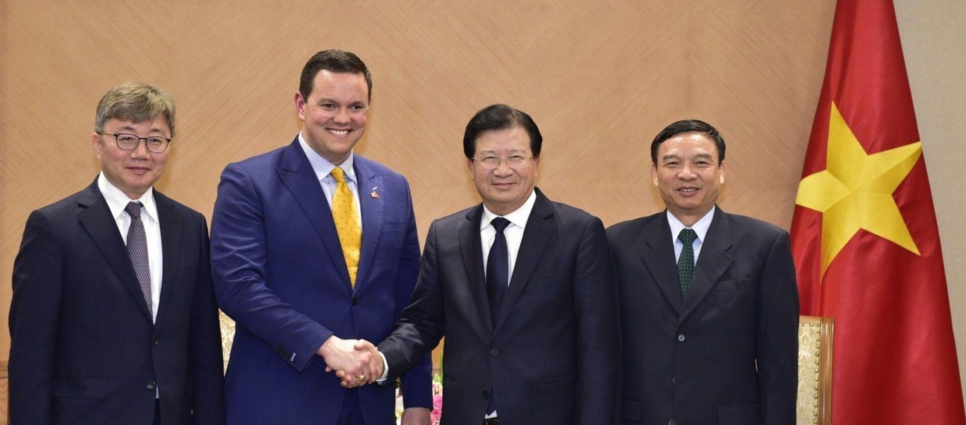 Phó Thủ tướng Trịnh Đình Dũng tiếp Nhóm nhà đầu tư Công ty Energy Capital Vietnam của Hoa Kỳ - Sputnik Việt Nam, 1920, 11.02.2020