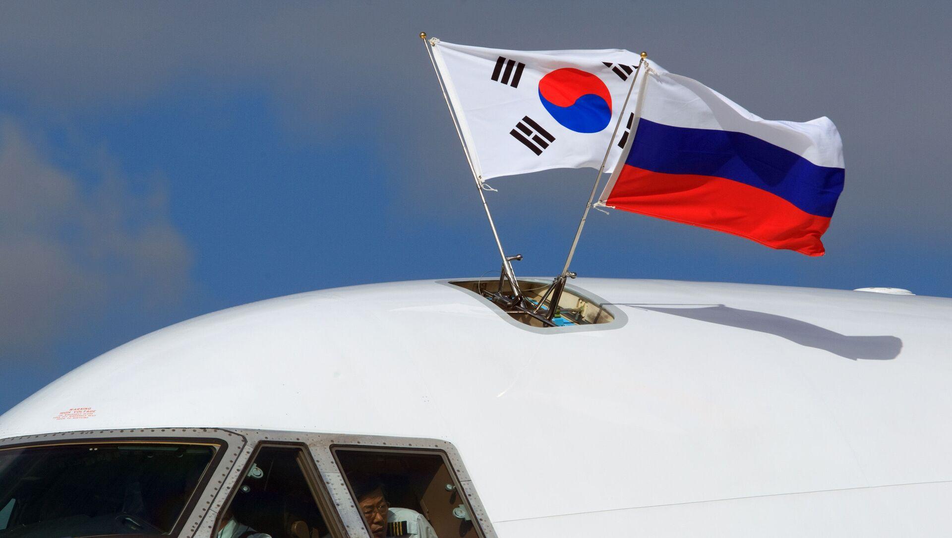 Quốc kỳ  Hàn Quốc và Nga  - Sputnik Việt Nam, 1920, 03.09.2021