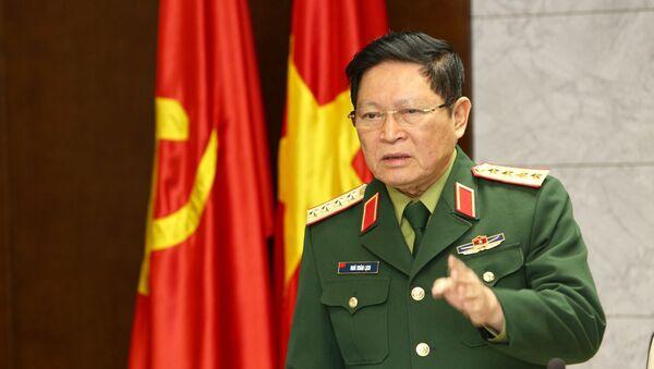 Đại tướng Ngô Xuân Lịch phát biểu chỉ đạo. - Sputnik Việt Nam