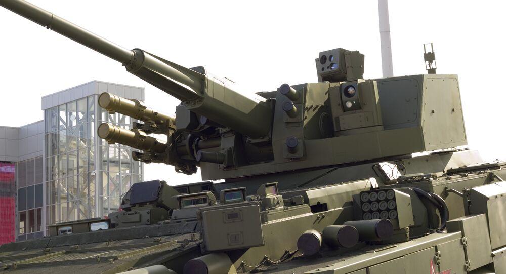 Mô-đun chiến đấu Nga AU220M trên T-15
