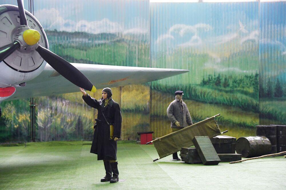 Triển lãm tại Bảo tàng Không quân Trung ương ở Monino