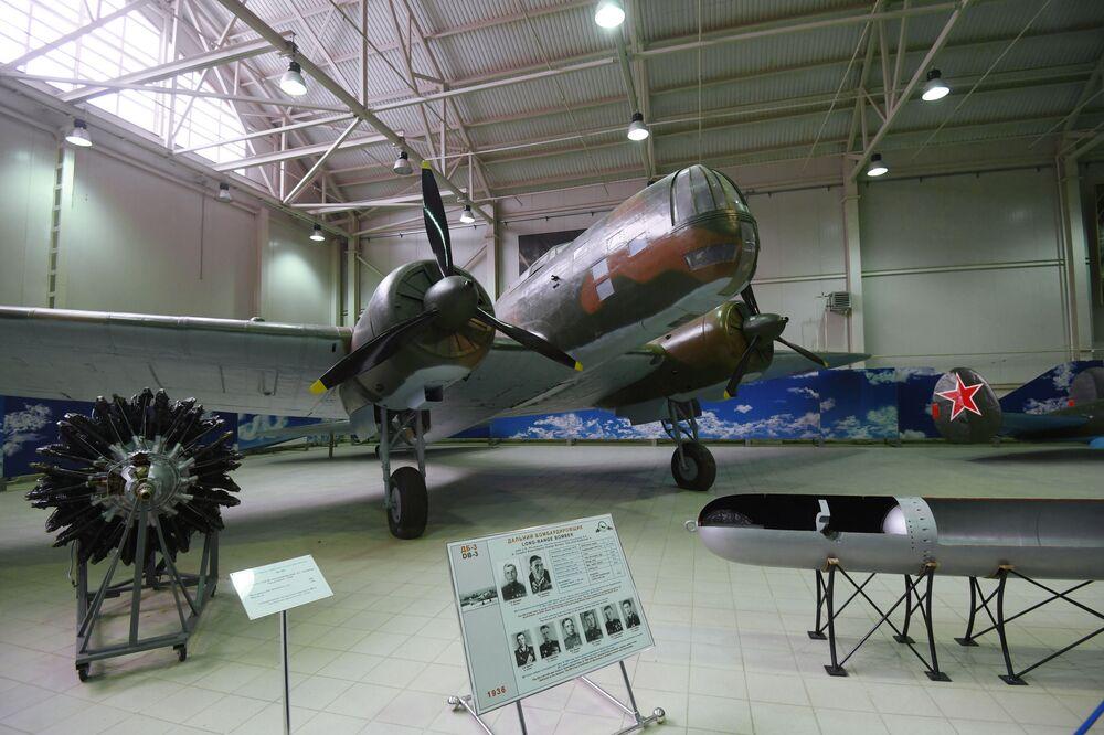Máy bay ném bom tầm xa DB-3, được triển lãm tại Bảo tàng Không quân Trung ương ở Monino