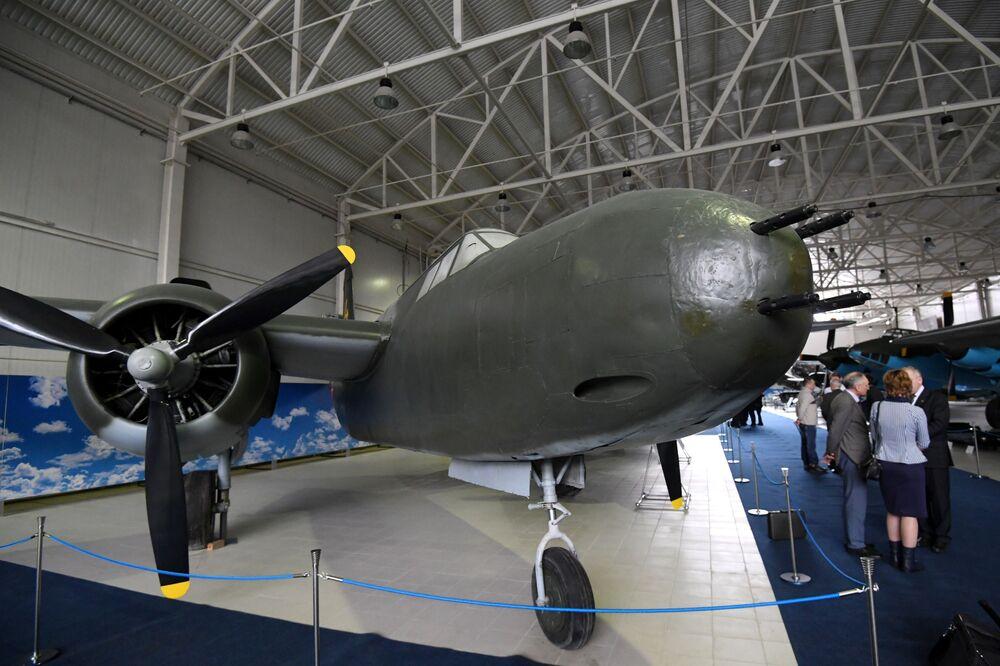 Máy bay Mỹ A-20 Boston, được triển lãm tại Bảo tàng Không quân Trung ương ở Monino