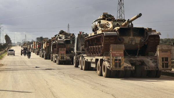 Thiết bị quân sự của Thổ Nhĩ Kỳ tại tỉnh Idlib, Syria - Sputnik Việt Nam