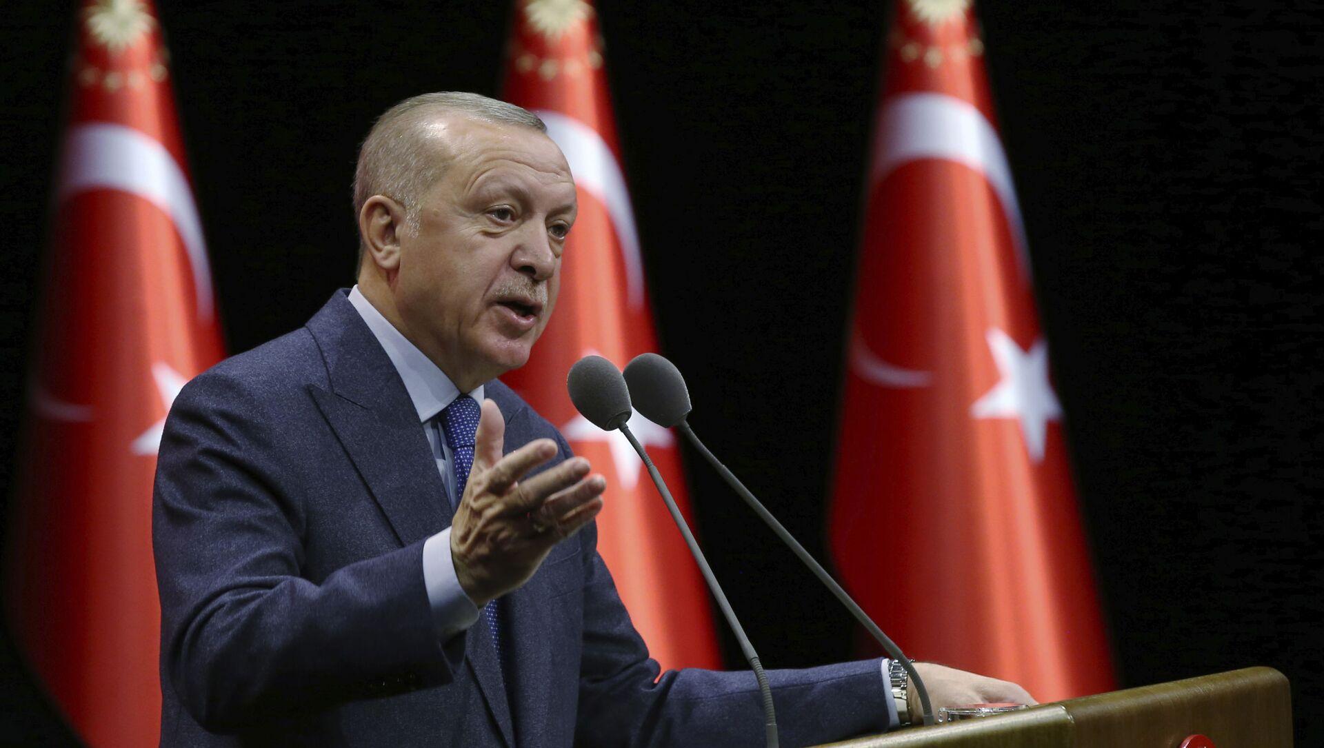 Tổng thống Thổ Nhĩ Kỳ Recep Tayyip Erdogan - Sputnik Việt Nam, 1920, 22.06.2021