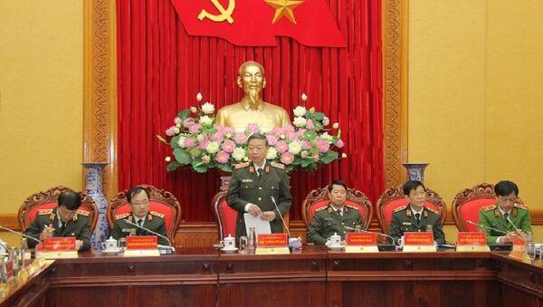 Bộ trưởng Tô Lâm chủ trì Hội nghị.  - Sputnik Việt Nam