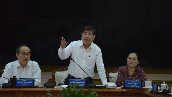 Chủ tịch UBND Thành phố Hồ Chí Minh Nguyễn Thành Phong chỉ đạo công tác phòng chống dịch COVID-19 trên địa bàn - Sputnik Việt Nam