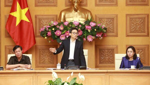 Phó Thủ tướng Chính phủ Vũ Đức Đam phát biểu chỉ đạo cuộc họp. - Sputnik Việt Nam
