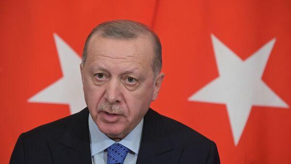 Tổng thống Thổ Nhĩ Kỳ Recep Tayyip Erdogan tại Điện Kremlin, Matxcơva  - Sputnik Việt Nam