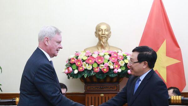 Phó Thủ tướng, Bộ trưởng Bộ Ngoại giao Phạm Bình Minh tiếp Thứ trưởng thứ nhất Bộ Ngoại giao Nga - Sputnik Việt Nam