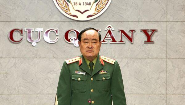 Thượng tướng Trần Đơn, Thứ trưởng Bộ Quốc phòng, Trưởng Ban chỉ đạo chủ trì hội nghị. - Sputnik Việt Nam