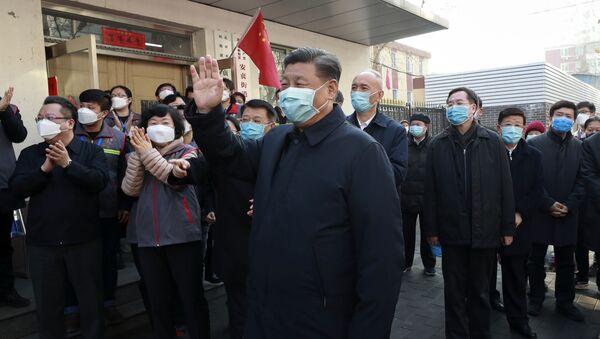 Chủ tịch Trung Quốc Tập Cận Bình đeo mặt nạ bảo vệ - Sputnik Việt Nam
