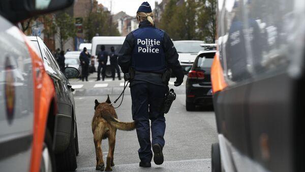 Cảnh sát Bỉ trên đường phố Brussels trong cuộc truy lùng đối tượng liên quan đến những vụ khủng bố ở Paris - Sputnik Việt Nam