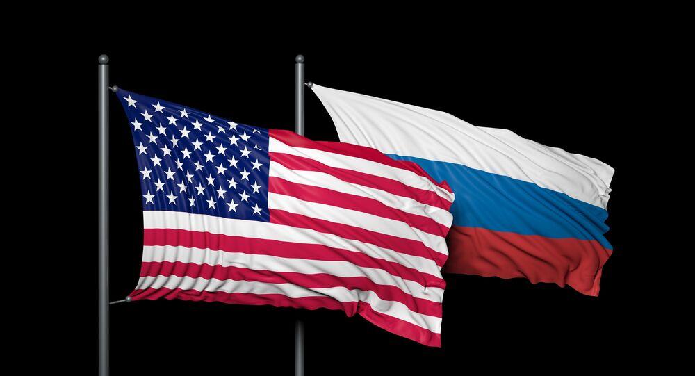 Quốc kỳ Nga và Hoa Kỳ