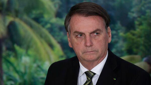 Tổng thống Brazil Jair Bolsonaru tại Cung điện Planalto, Brazil - Sputnik Việt Nam