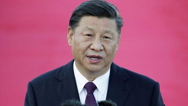 Chủ tịch Trung Quốc Tập Cận Bình phát biểu khi đến sân bay quốc tế Macau Macau - Sputnik Việt Nam