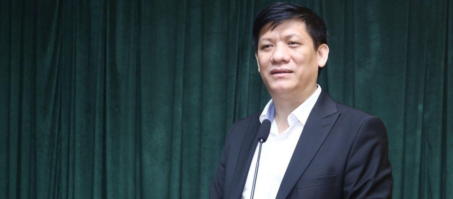 Thứ trưởng Bộ Y tế Nguyễn Thanh Long phát biểu - Sputnik Việt Nam, 1920, 15.03.2020