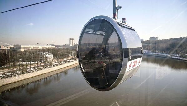 Cáp treo kết nối đài quan sát trên Đồi Chim sẻ (Vorobyovy Gory) và Sân vận động Luzhniki ở Moskva - Sputnik Việt Nam