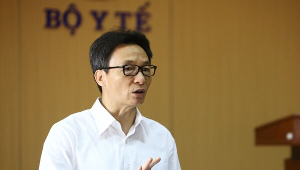 Phó Thủ tướng Vũ Đức Đam, Trưởng Ban chỉ đạo phát biểu. - Sputnik Việt Nam