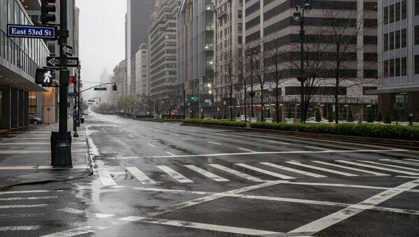 Đường phố vắng bóng người ở New York, Hoa Kỳ - Sputnik Việt Nam