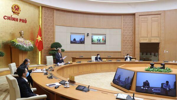 Thủ tướng Nguyễn Xuân Phúc phát biểu khai mạc phiên họp. - Sputnik Việt Nam