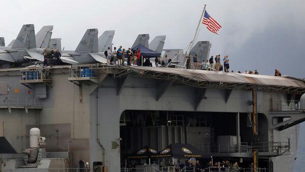 Tàu sân bay USS Theodore Roosevelt của Mỹ đã cập cảng Đà Nẵng - Sputnik Việt Nam