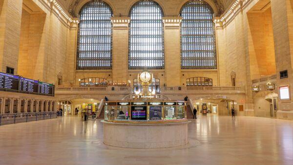 Đồng hồ Nhà ga trung tâm New York chỉ 12 giờ trong Đại dịch coronavirus - Sputnik Việt Nam