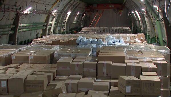 Nga đã gửi viện trợ nhân đạo cho Hoa Kỳ trong cuộc chiến chống lại coronavirus - Sputnik Việt Nam