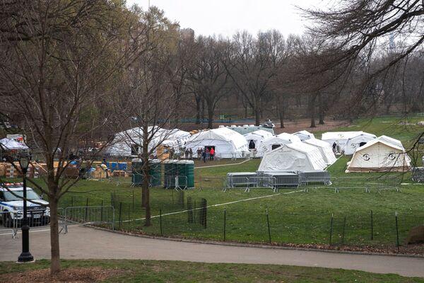 Bệnh viện dã chiến của Tổ chức nhân đạo quốc tế phi chính phủ phi lợi nhuận Samaritan's Purse tại Công viên trung tâm thành phố New York - Sputnik Việt Nam