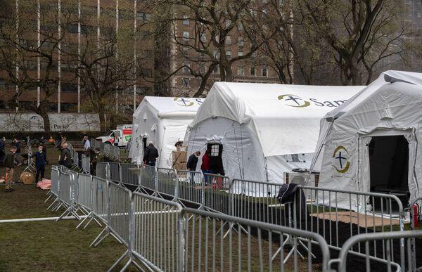 Bệnh viện dã chiến tại Công viên trung tâm New York - Sputnik Việt Nam