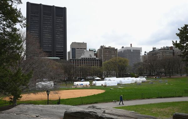 Quang cảnh bệnh viện dã chiến ở Công viên Trung tâm New York - Sputnik Việt Nam