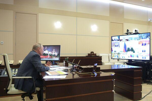 Tổng thống Putin tổ chức cuộc họp trực tuyến với các thành viên chính phủ Nga - Sputnik Việt Nam