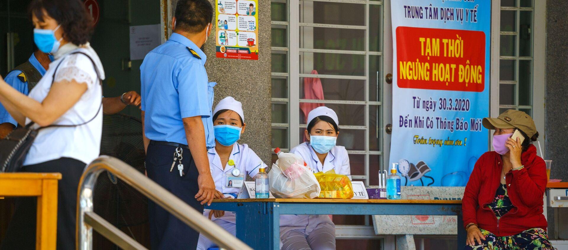 Tại lối vào bệnh viện ở thành phố nghỉ mát Nha Trang (Việt Nam) - Sputnik Việt Nam, 1920, 25.03.2021