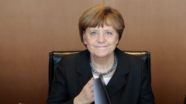Thủ tướng Đức Angela Merkel tiến hành cuộc họp hàng tuần của nội các Bộ trưởng Chính phủ tại Berlin - Sputnik Việt Nam