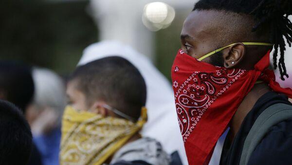 Người biểu tình trong một cuộc biểu tình ở Charlotte, Bắc Carolina. Lưu trữ hình ảnh - Sputnik Việt Nam